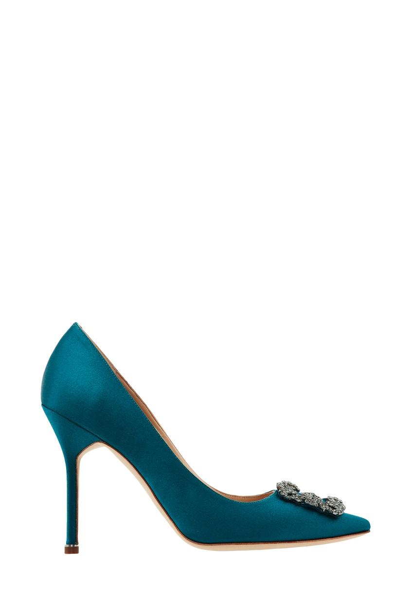 Бирюзовые туфли Hangisi от Manolo Blahnik