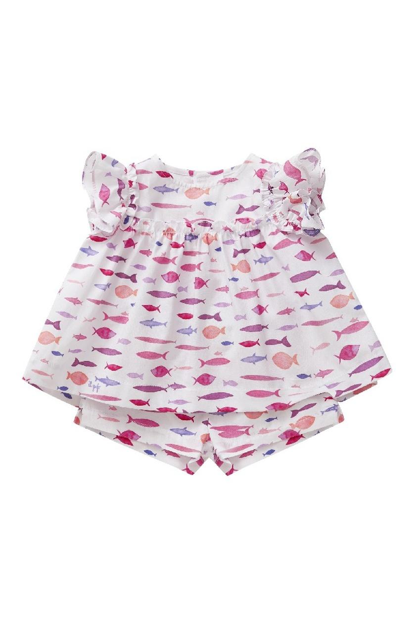 Комплект детской одежды с принтом IL Gufo