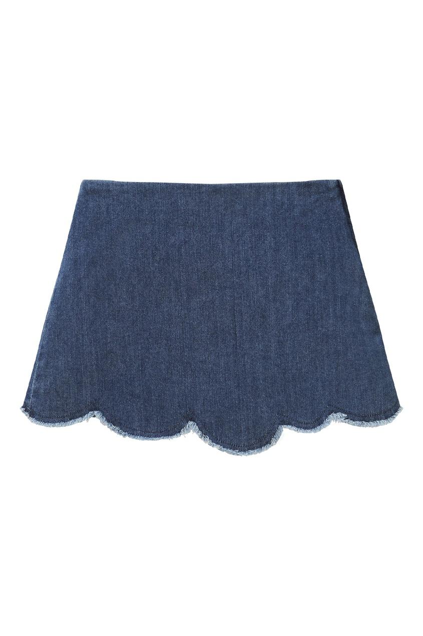 юбка il gufo, синяя