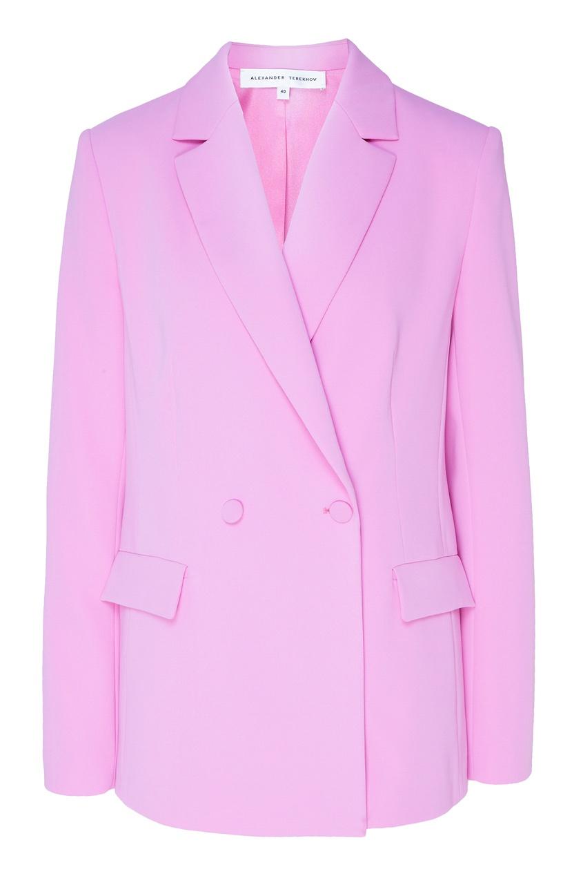 Купить Розовый двубортный жакет от Alexander Terekhov розового цвета