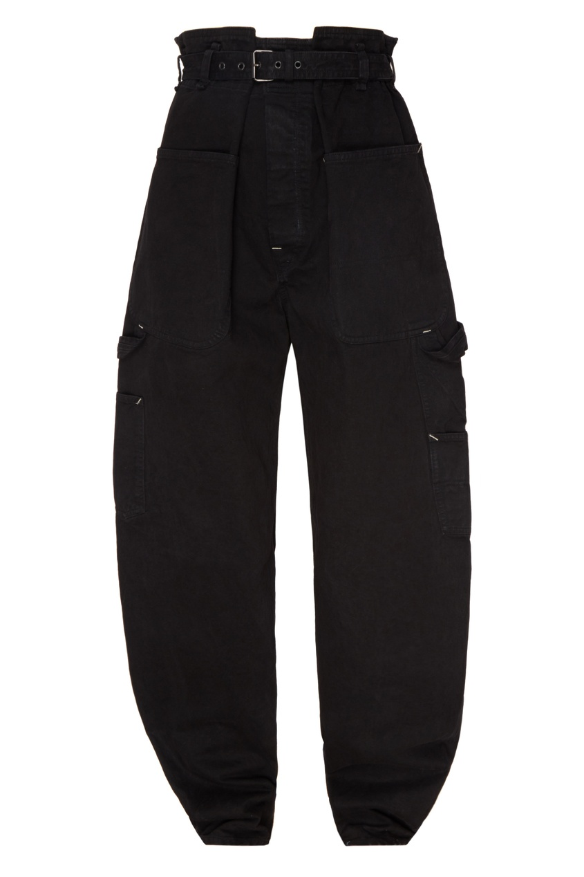 женские джинсы isabel marant, черные