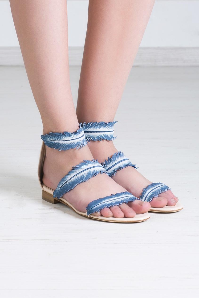 Oscar de la Renta Кожаные сандалии