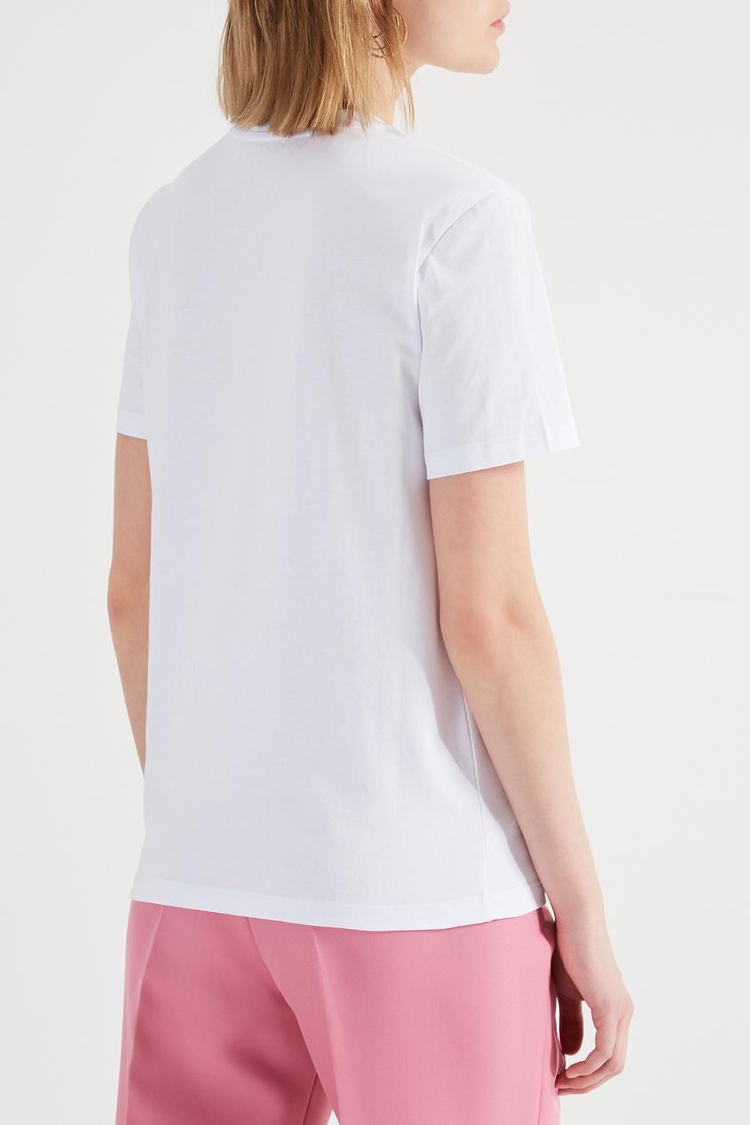 женская футболка msgm, белая