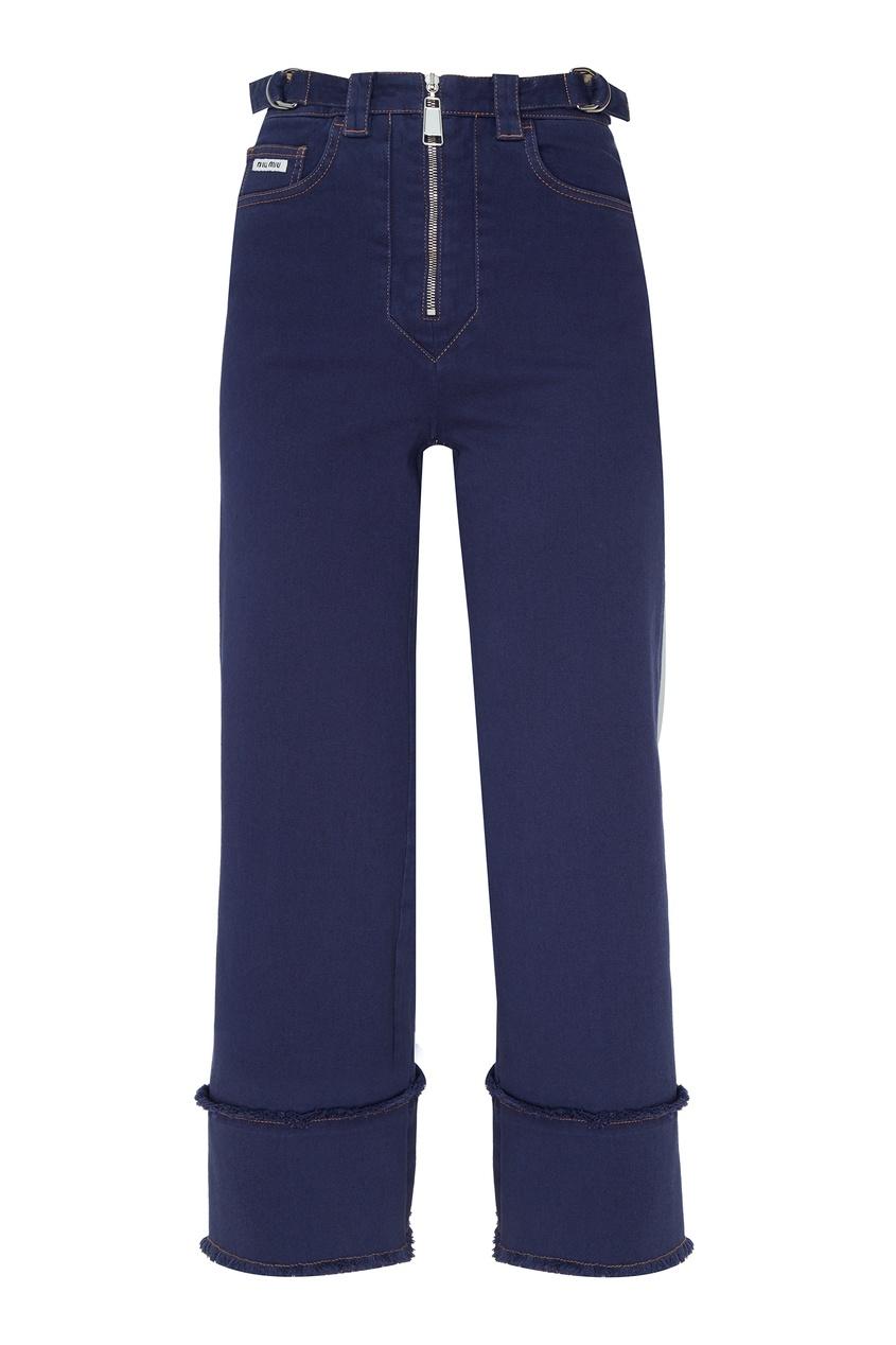 женские брюки miu miu, синие