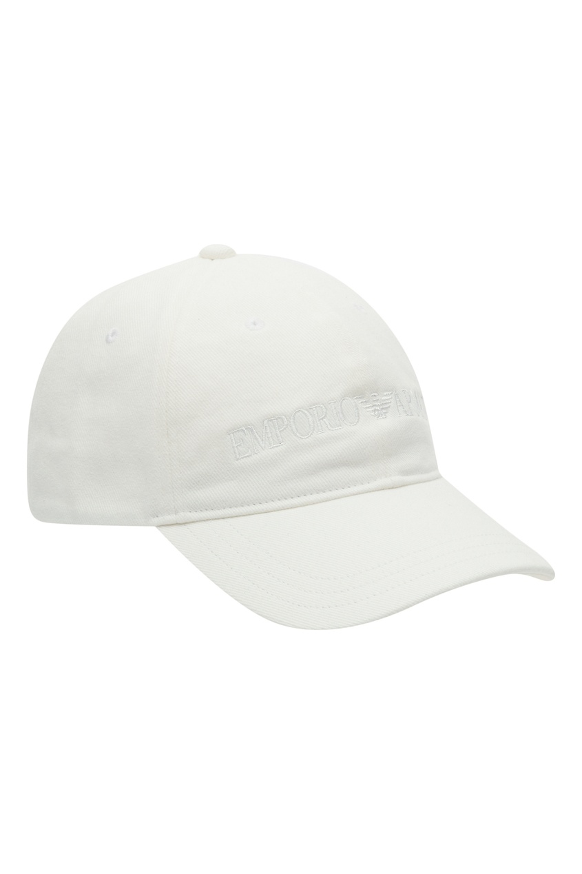 мужская бейсболка emporio armani, белая