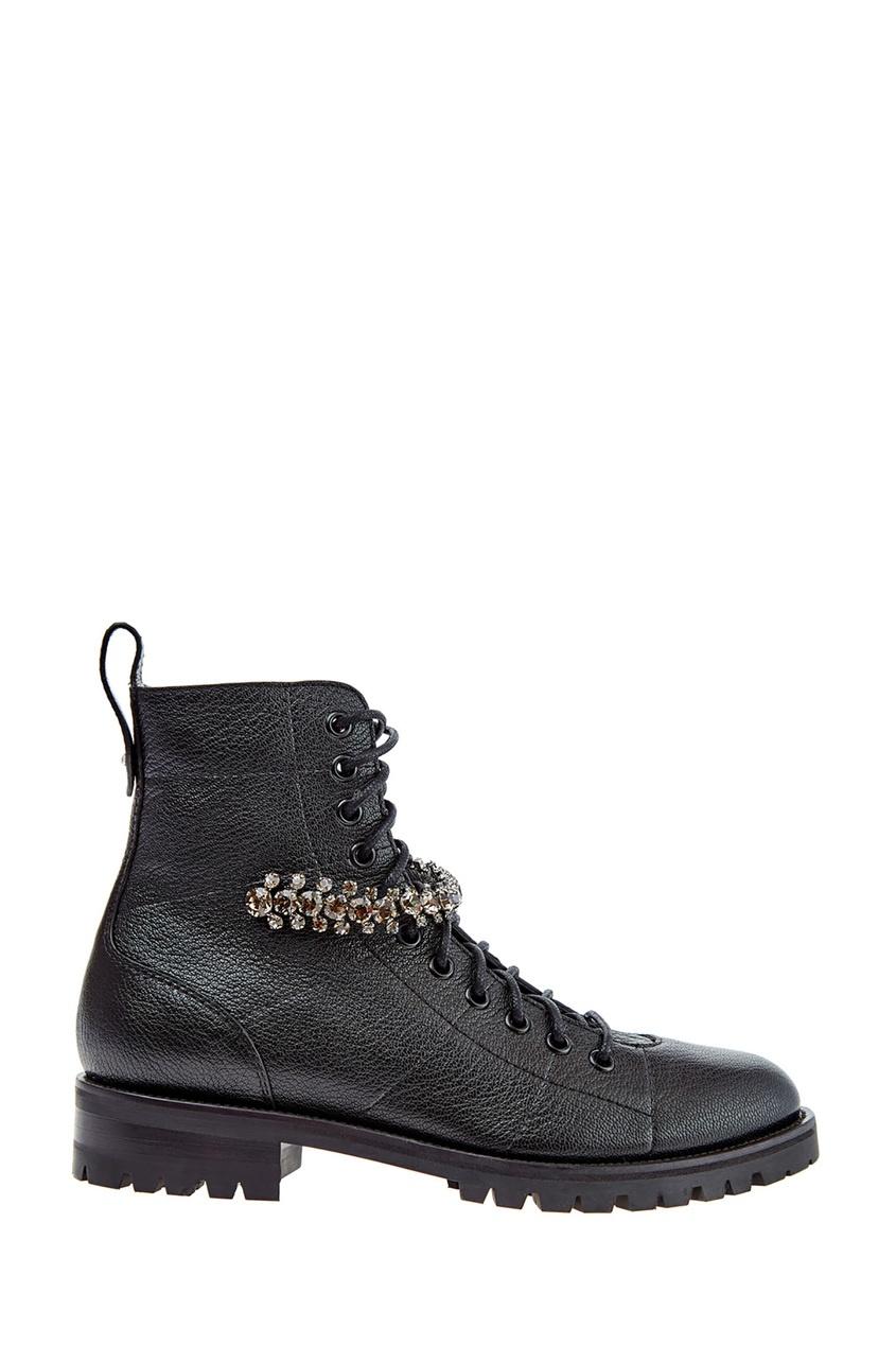 Черные ботинки Cruz с кристаллами