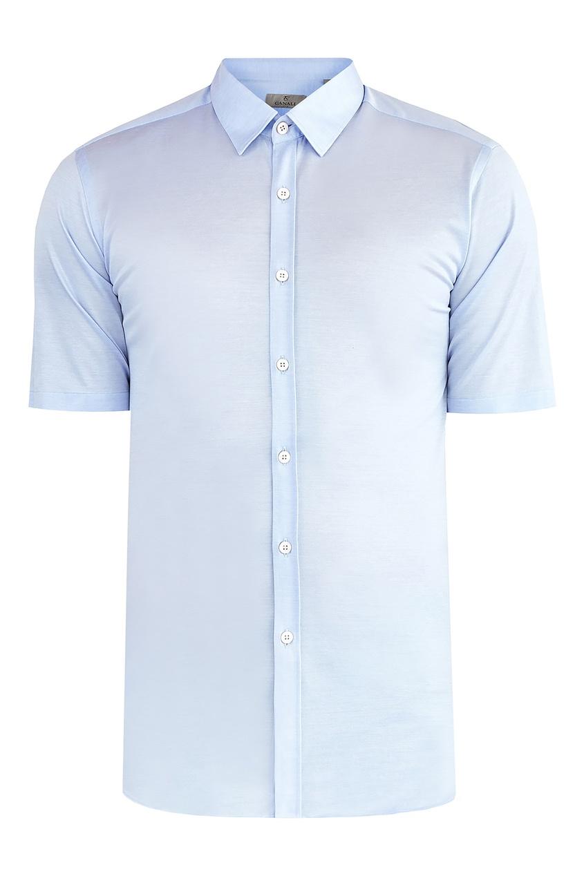 Купить Рубашку голубого цвета от Canali голубого цвета