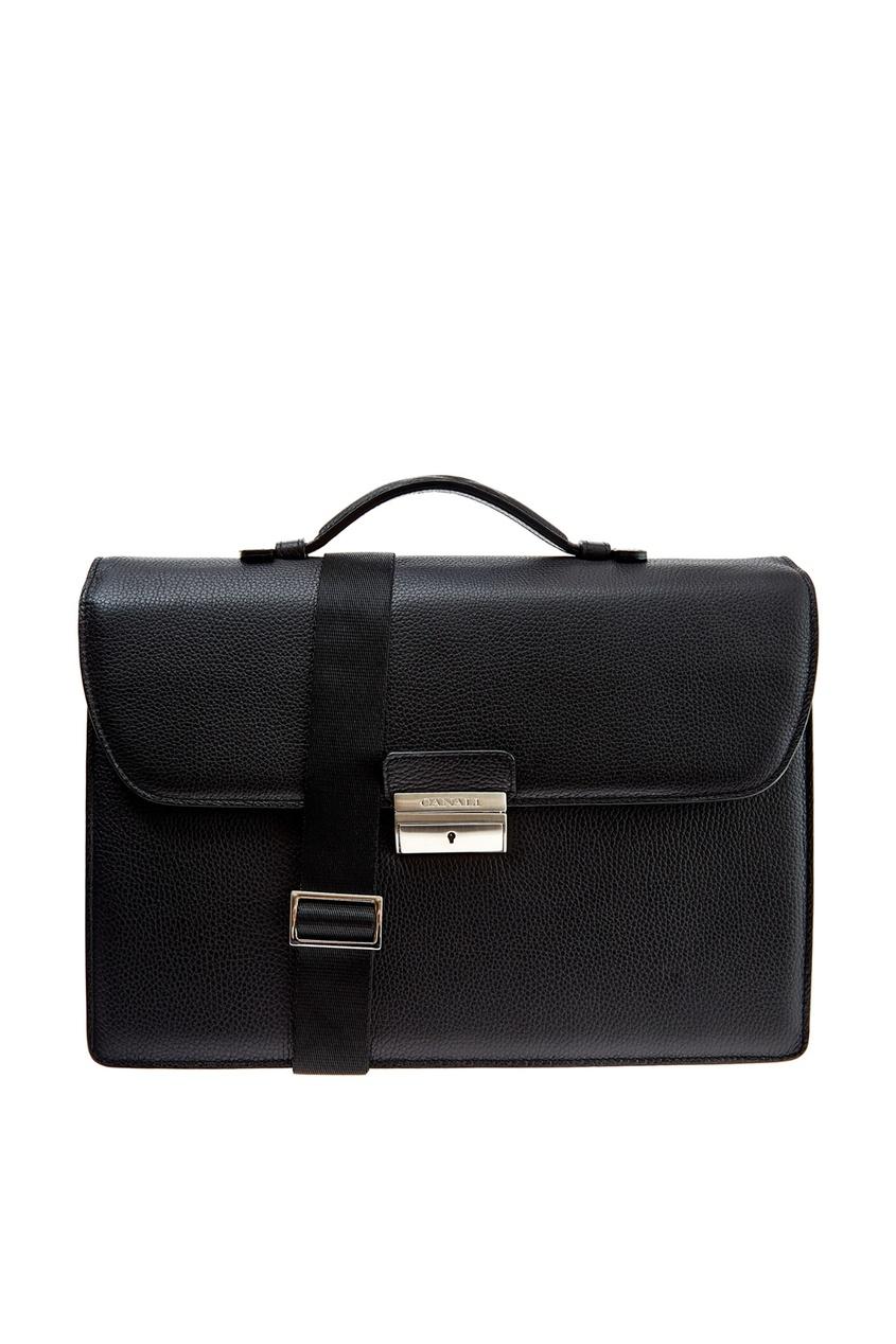 мужской портфель canali, черный