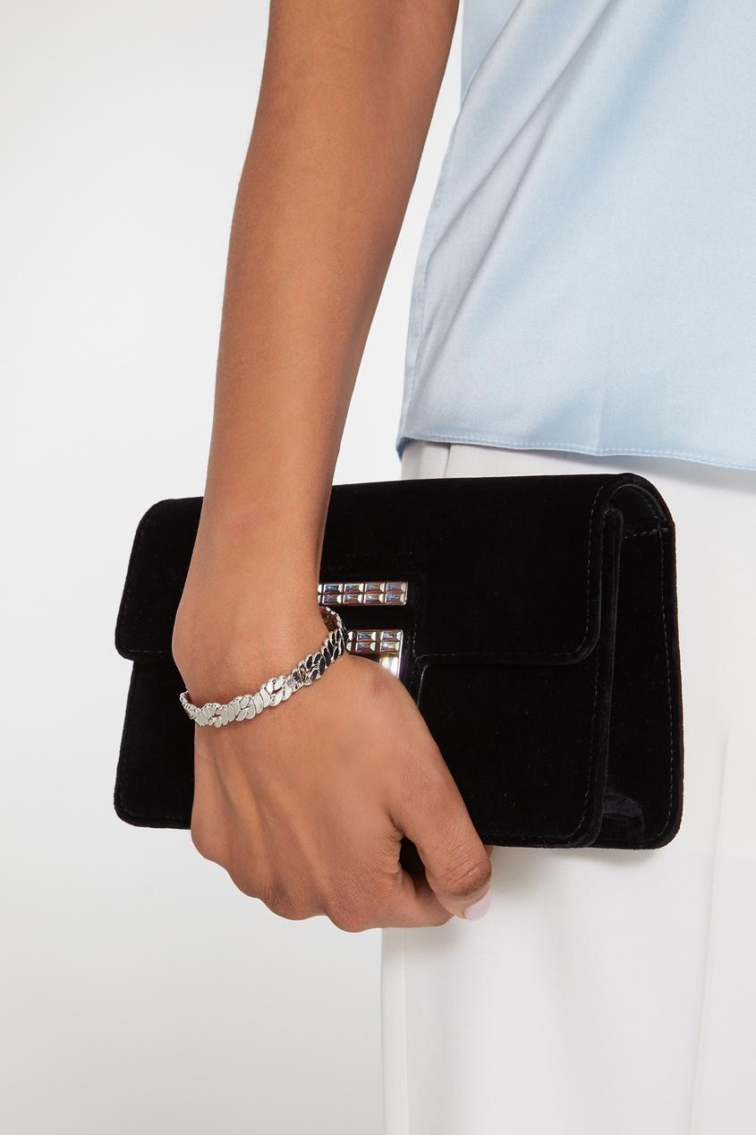 Фото 2 - Серебристый браслет-веревка от Lisa Smith серебрянного цвета