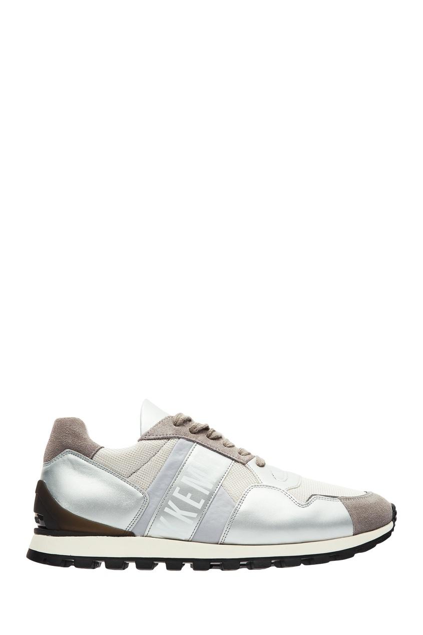 мужские кроссовки dirk bikkembergs, серебряные