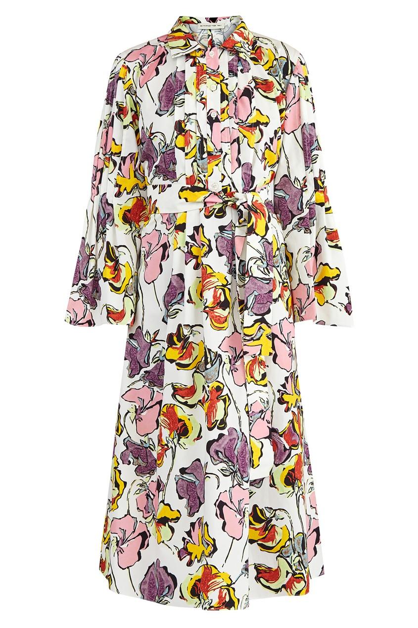Купить Платье-рубашка с принтом от Etro цвет multicolor