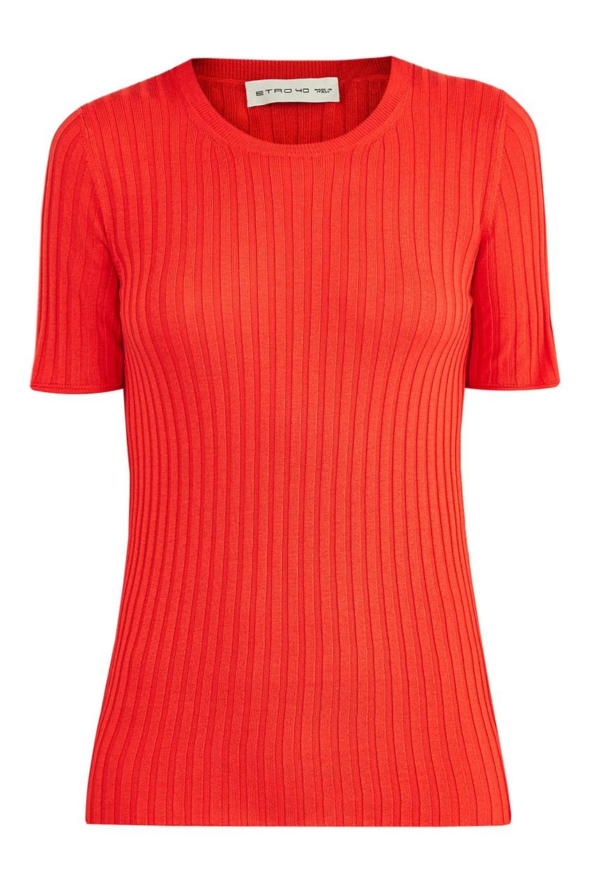 Купить Футболку оранжевого цвета от Etro красного цвета