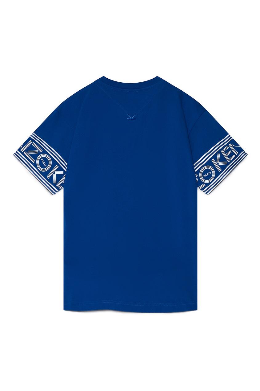 мужская футболка kenzo, синяя