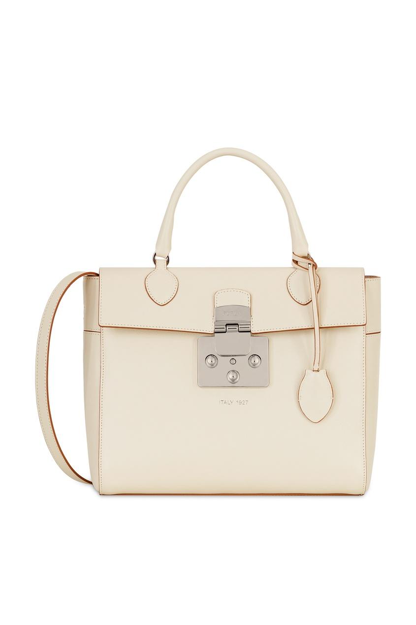 Фото - Белая сумка Mantra бежевого цвета