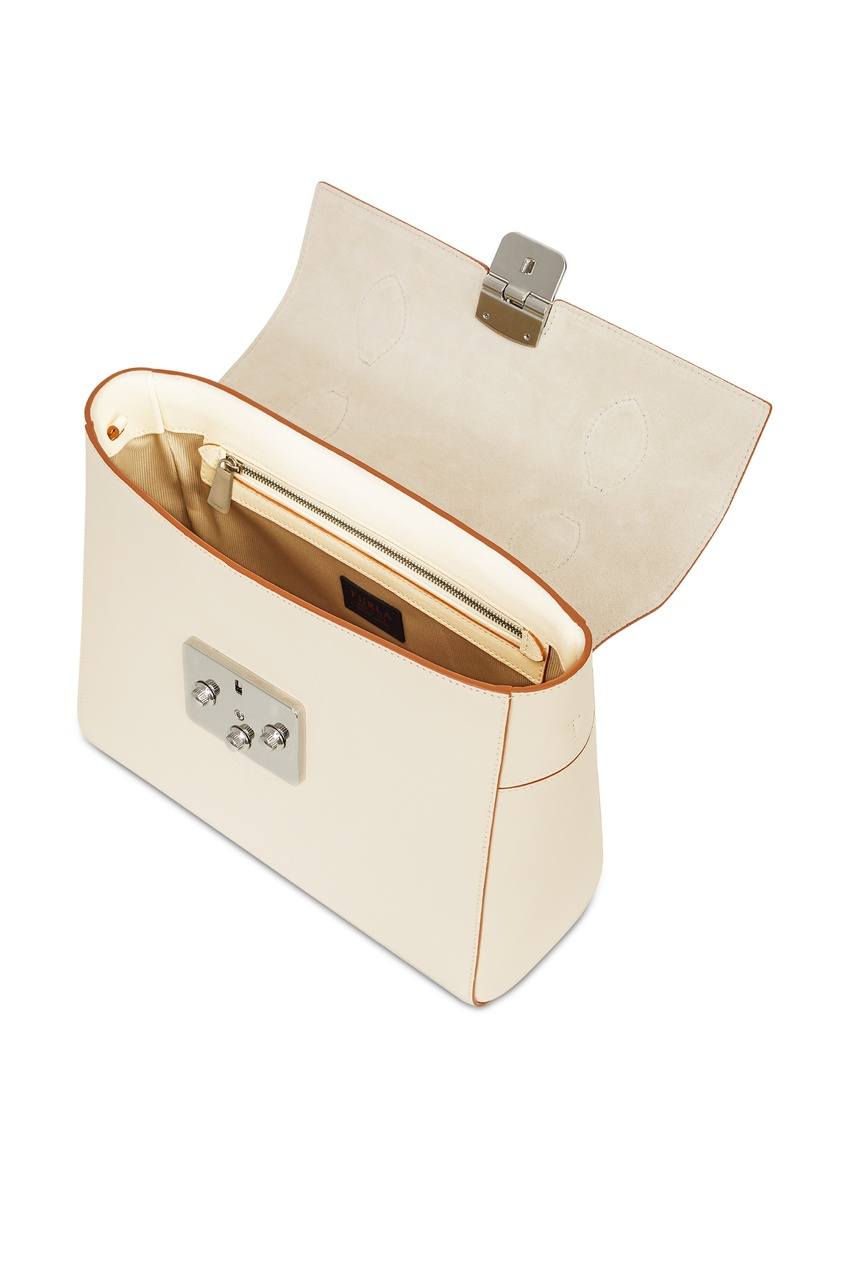 Фото 3 - Белая сумка Mantra бежевого цвета