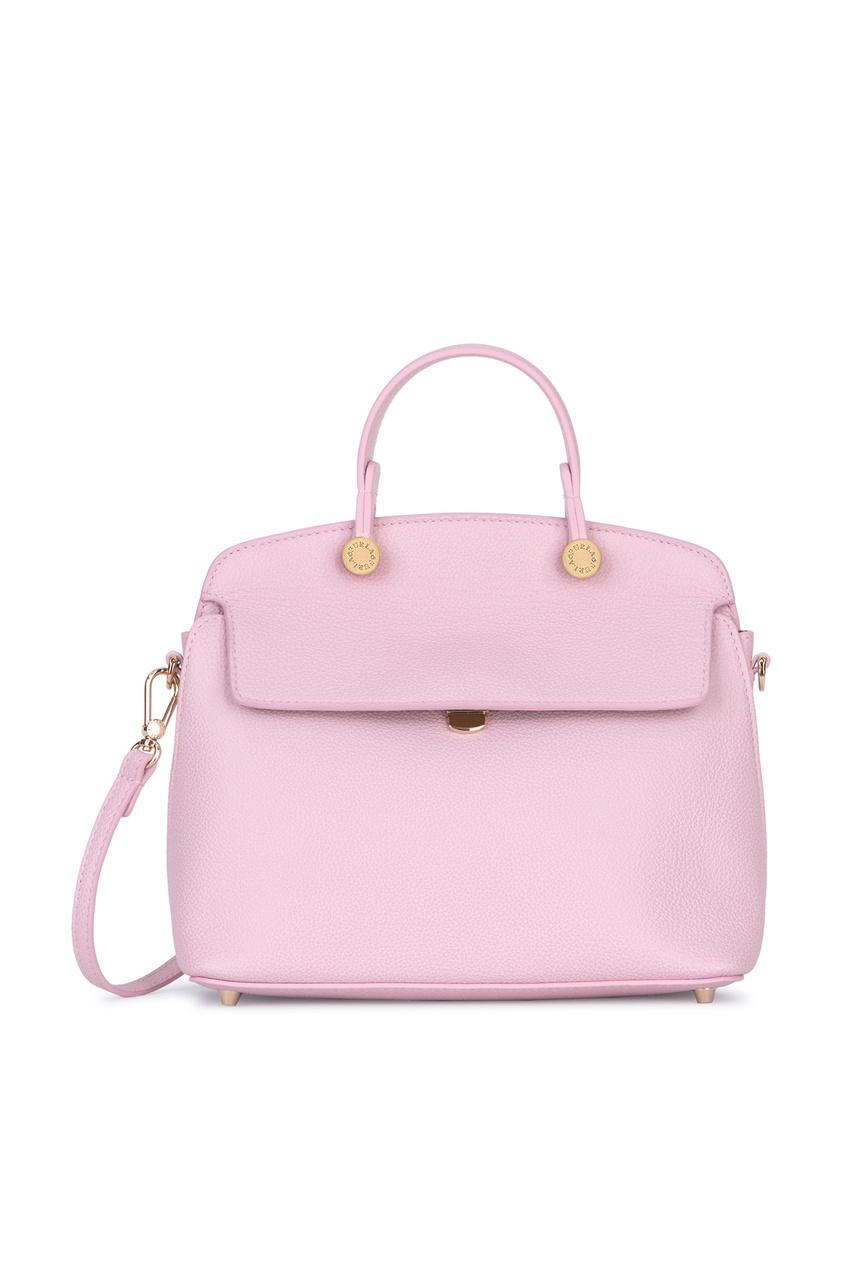 Купить Розовая кожаная сумка My Piper розового цвета