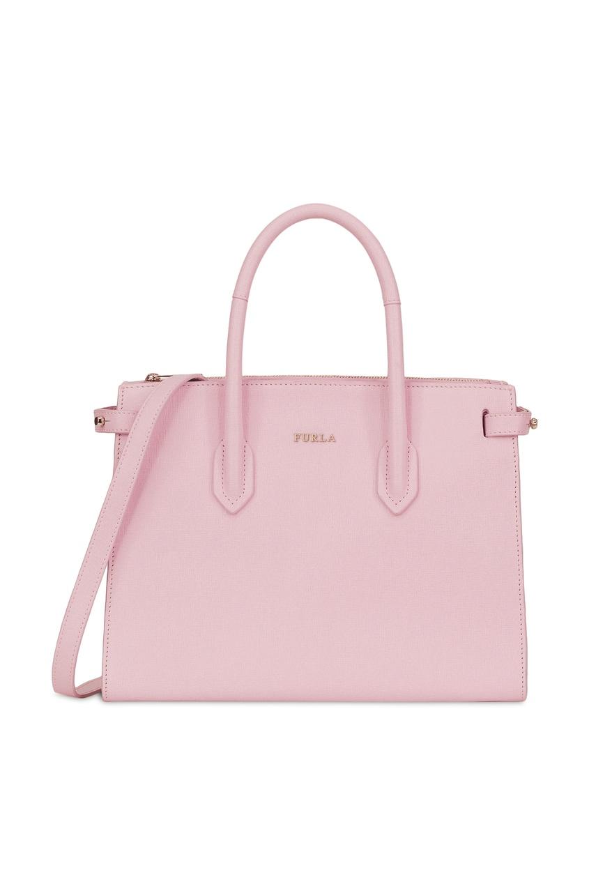 Купить Розовая кожаная сумка Pin розового цвета