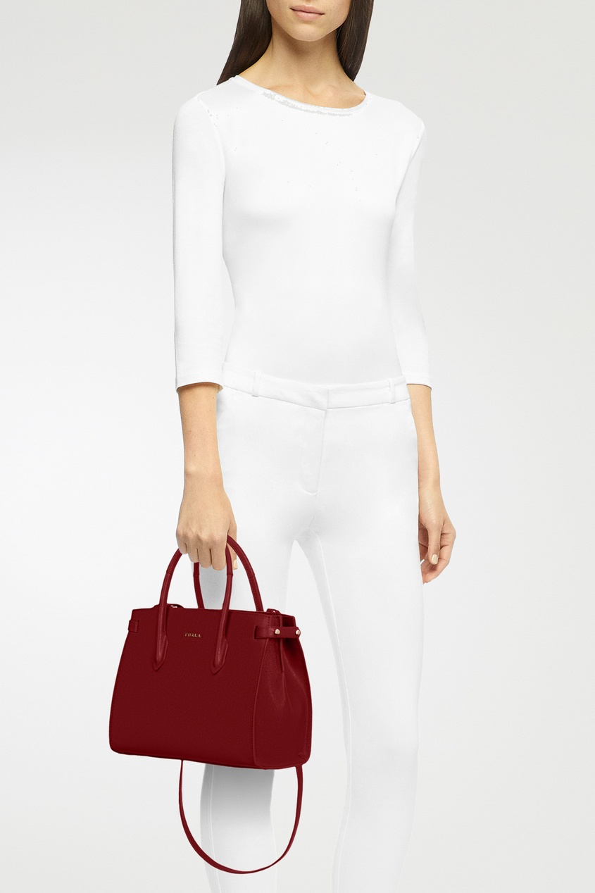 Фото 2 - Бордовая сумка Pin бордового цвета