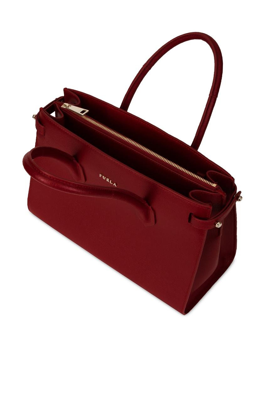Фото 4 - Бордовая сумка Pin бордового цвета