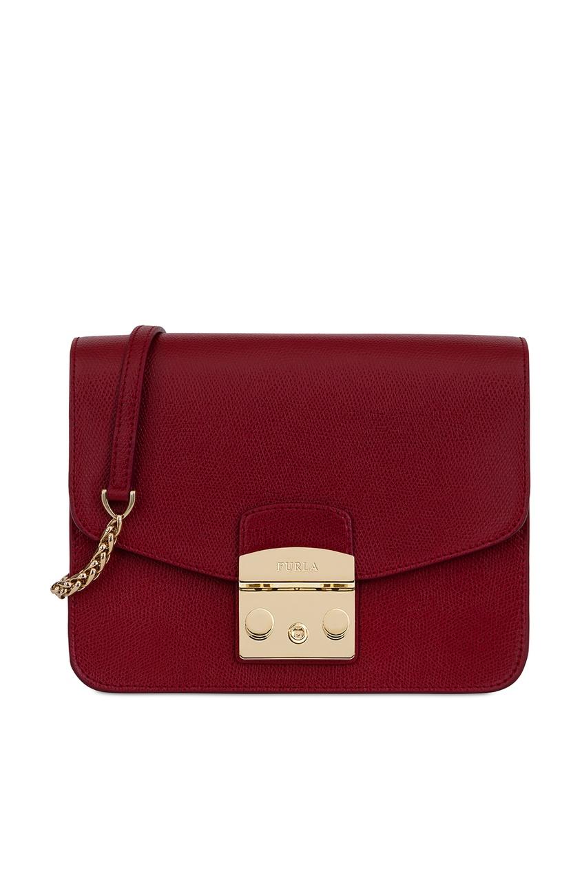 Купить Бордовая сумка Metropolis бордового цвета