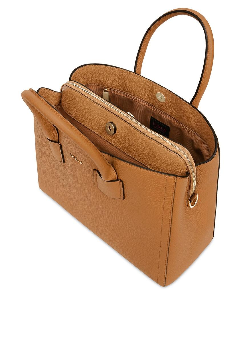 Фото 4 - Бежевая сумка Alba бежевого цвета