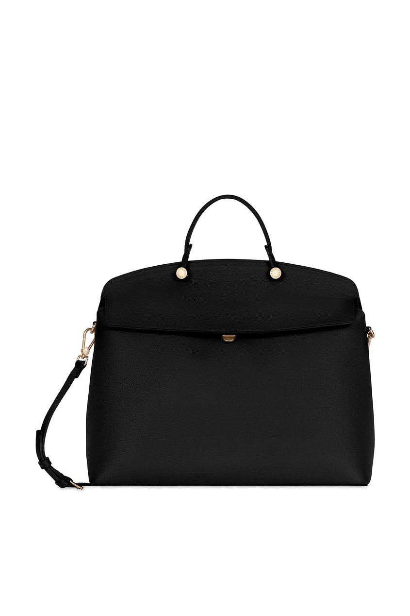 Купить Черная сумка My Piper из кожи черного цвета