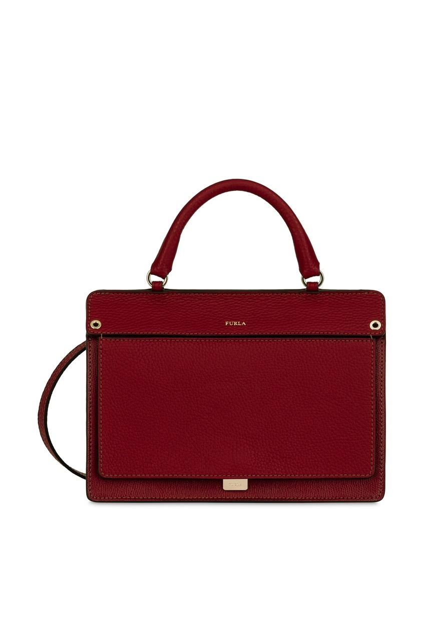 Купить Бордовая кожаная сумка Like бордового цвета