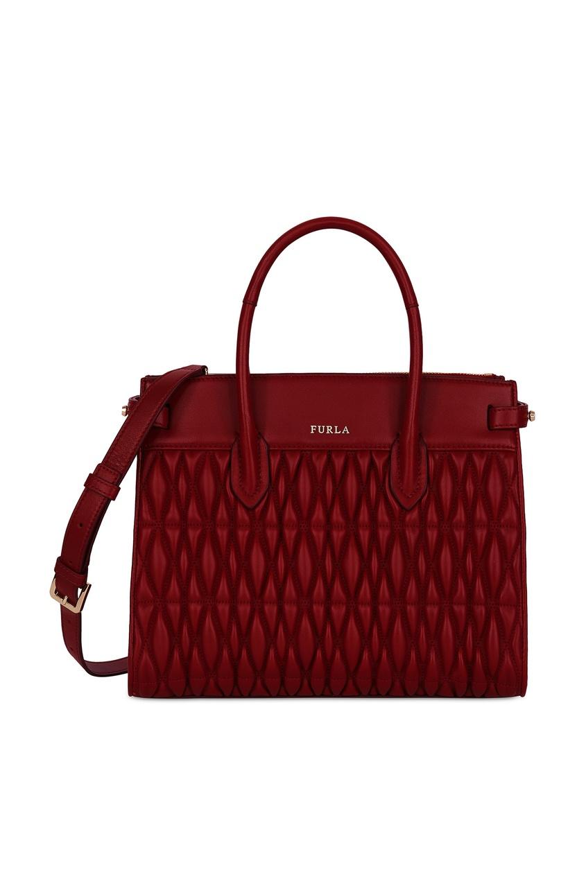 Купить Бордовая сумка Pin Cometa бордового цвета