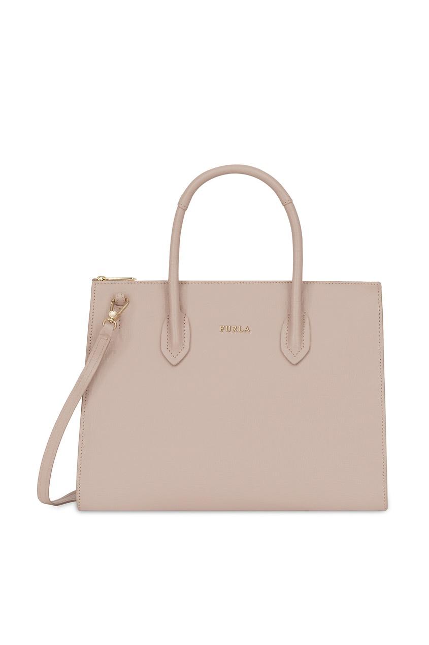 Фото - Пудровая сумка Pin бежевого цвета