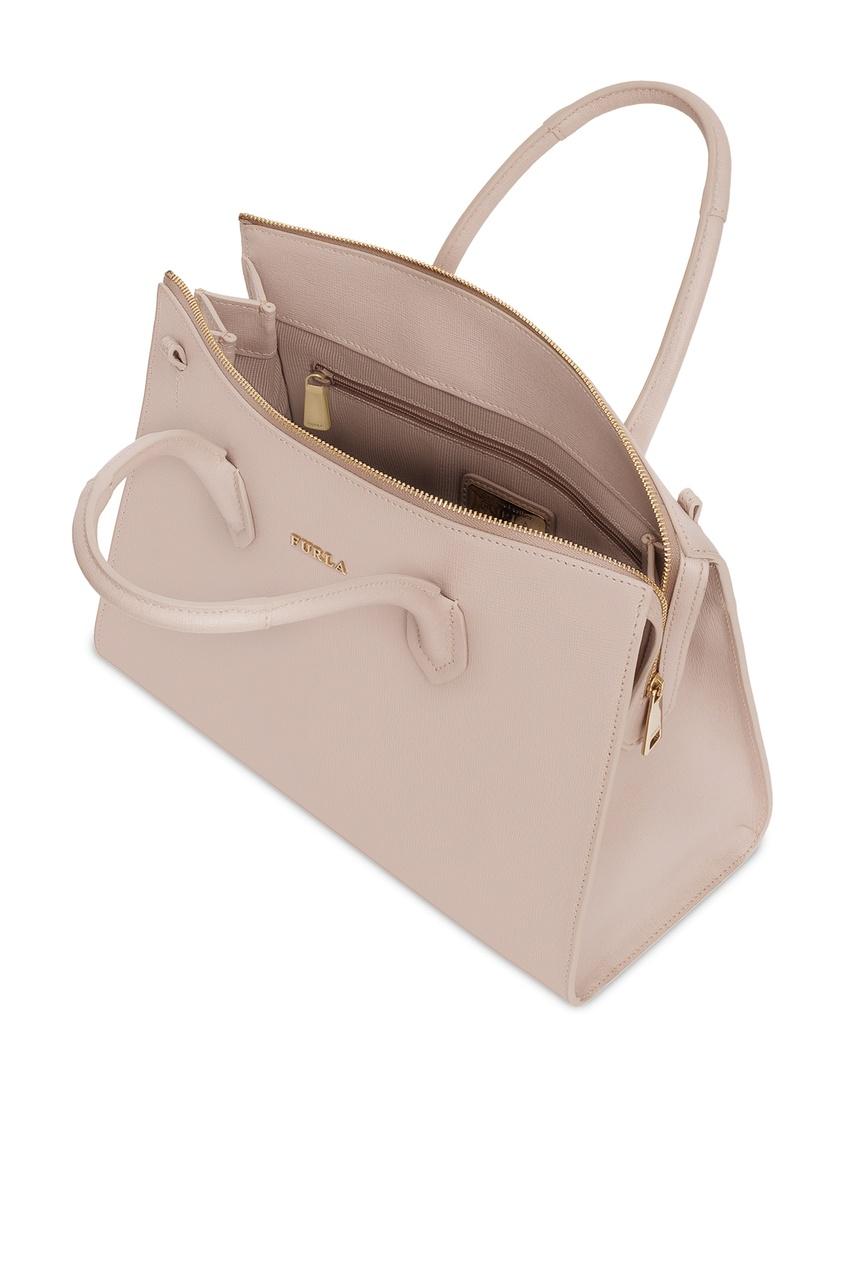 Фото 3 - Пудровая сумка Pin бежевого цвета