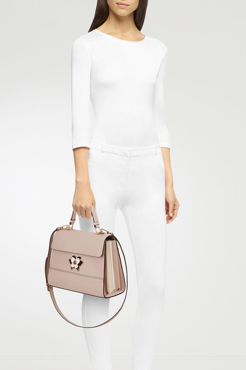 Фото 2 - Пудровая сумка Mughetto бежевого цвета