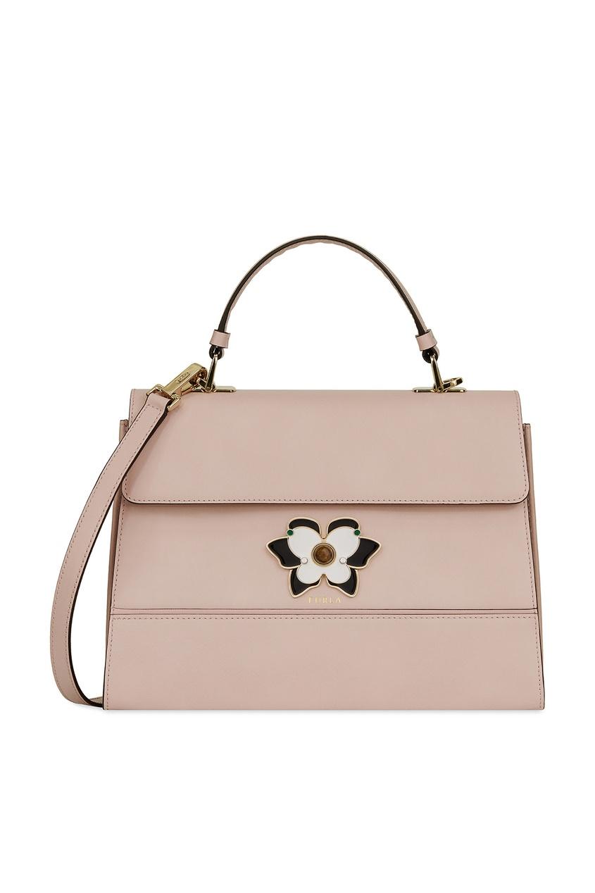 Фото - Пудровая сумка Mughetto бежевого цвета