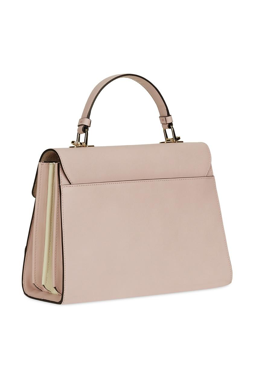 Фото 3 - Пудровая сумка Mughetto бежевого цвета