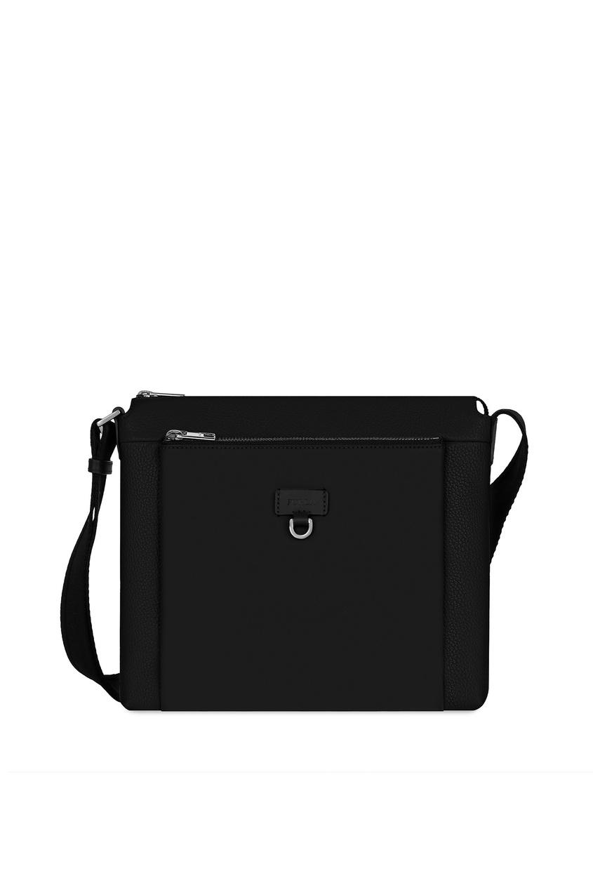 Купить Черная кожаная сумка Man Ulisse черного цвета