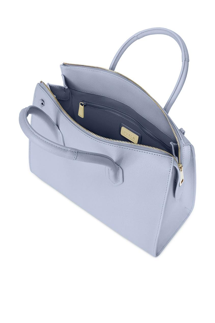 Фото 3 - Сиреневая сумка Pin M фиолетового цвета