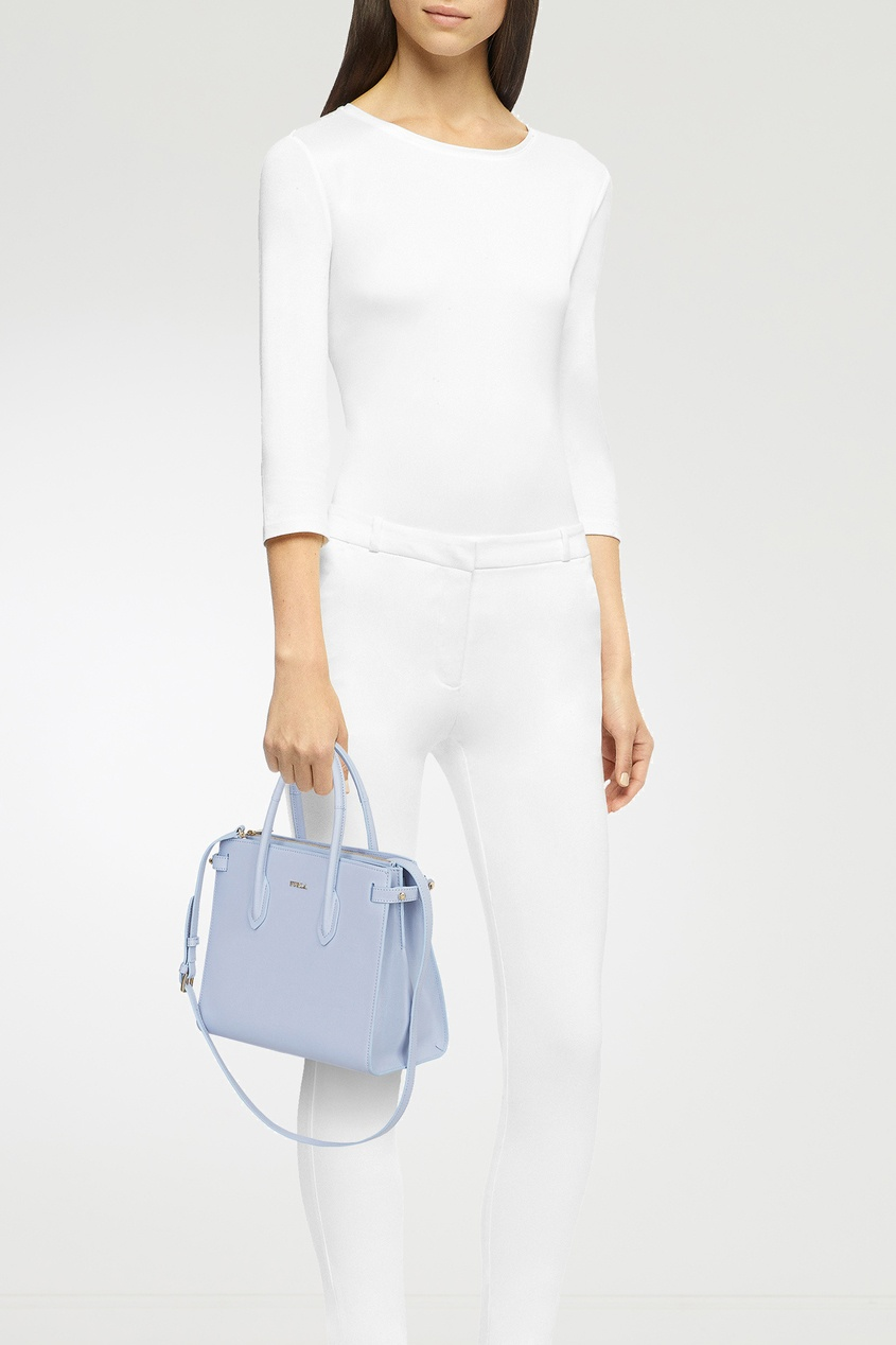 Фото 2 - Сиреневая сумка Pin S фиолетового цвета
