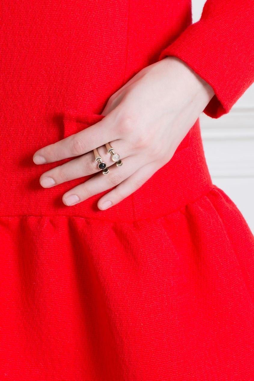 Бронзовое кольцо с лунным камнем