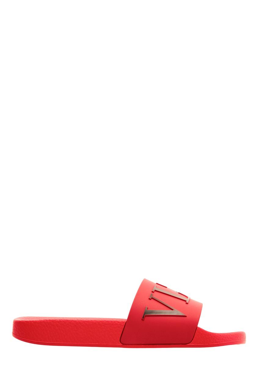 Купить Красные пантолеты Valentino Garavani VLTN красного цвета