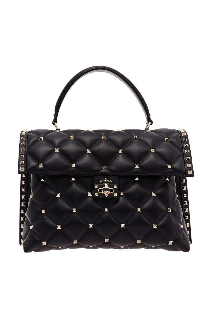 Купить Черная сумка Valentino Garavani Candystud черного цвета