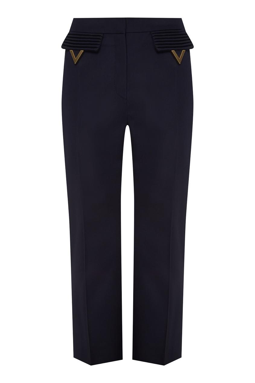 женские брюки valentino, синие