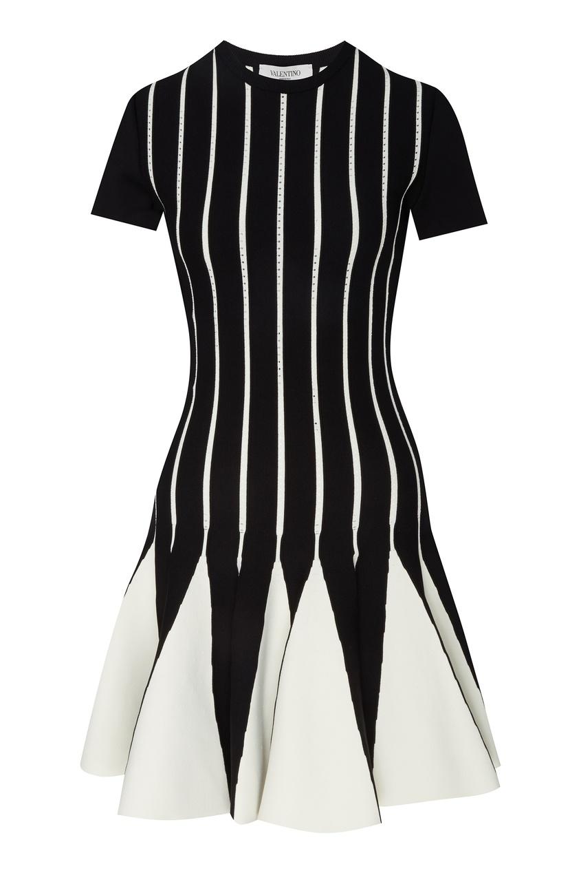 Купить Черно-белое платье мини от Valentino черно-белого цвета