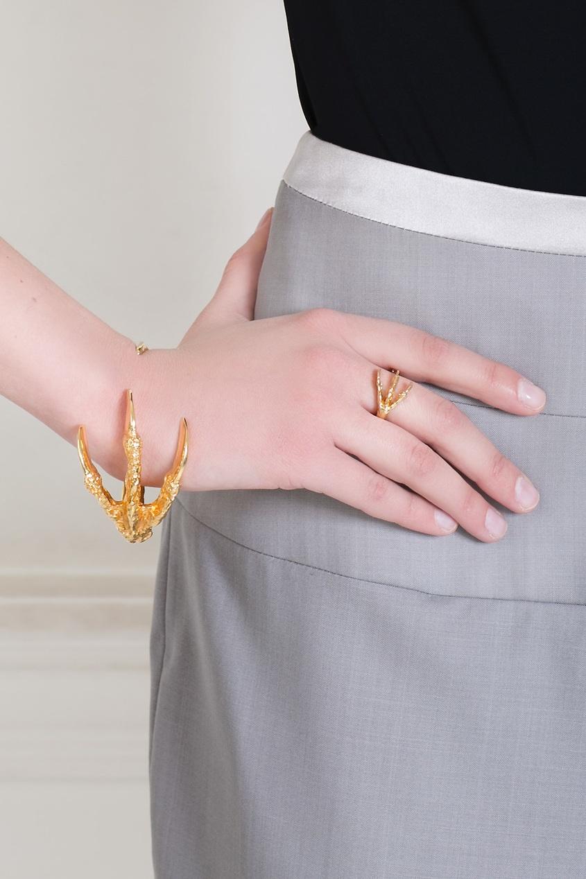 Кольцо из латуни с золотым напылением