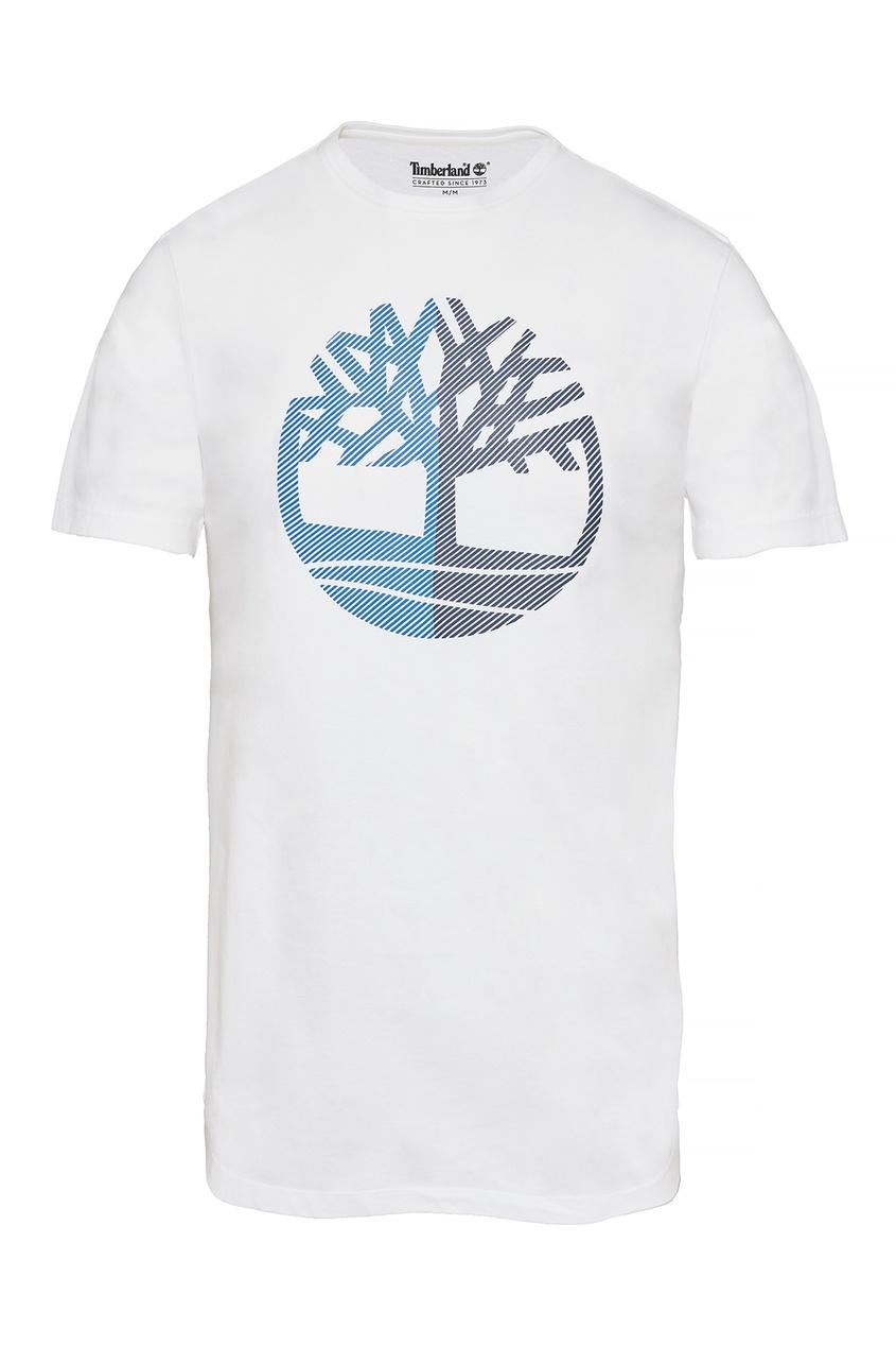 Белая футболка с логотипом от Timberland