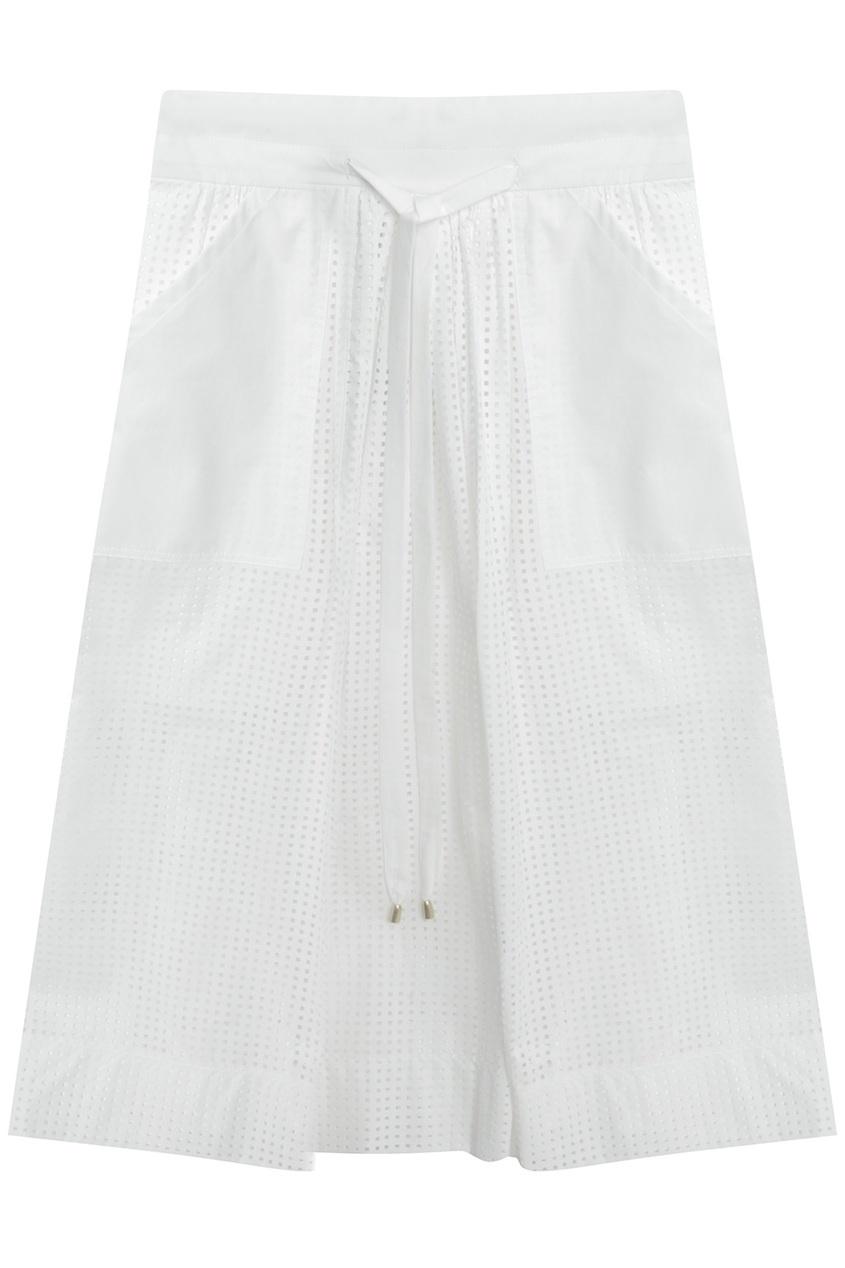 Хлопковая юбка American Retro 30613680 белый фото