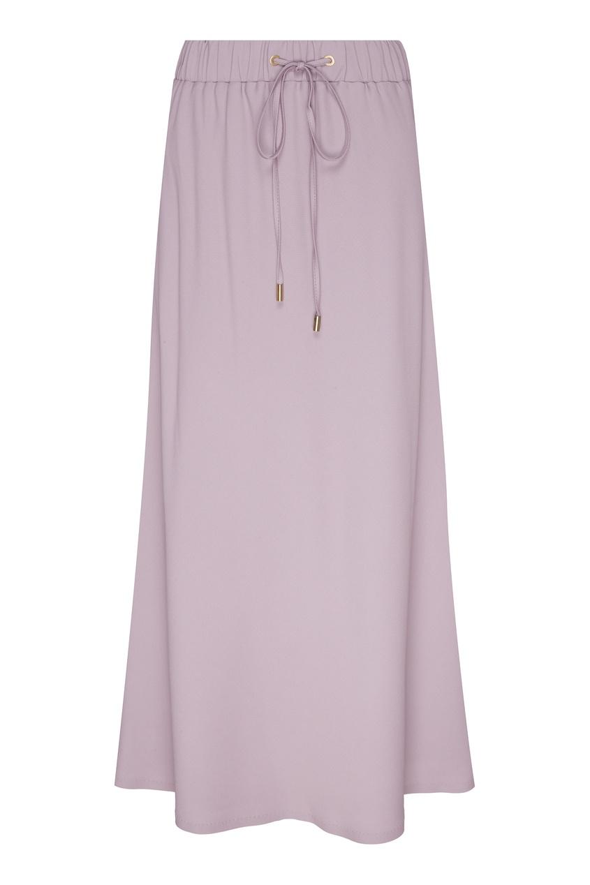 Купить Юбку с эластичным поясом фиолетового цвета