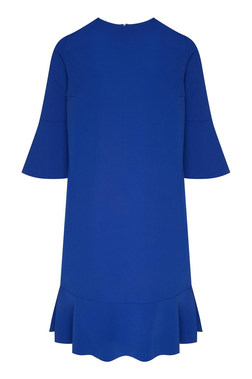 Фото - Синее платье мини с оборкой от Chapurin синего цвета