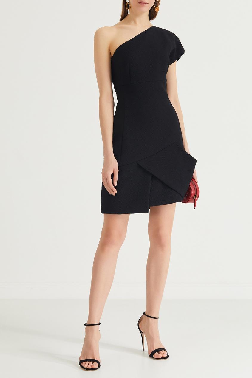Фото 2 - Черное асимметричное платье мини от Chapurin черного цвета