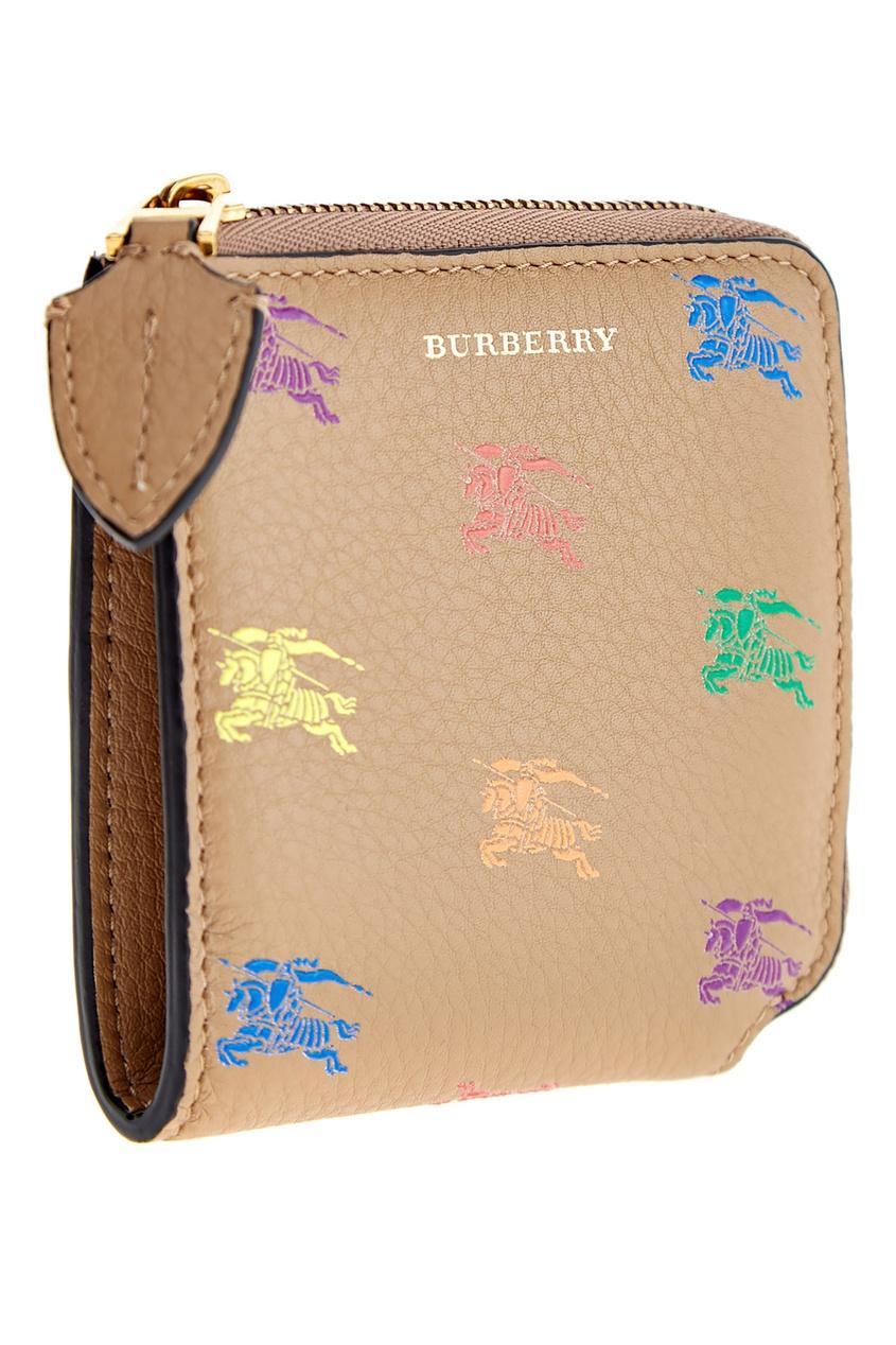 женский кошелёк burberry, золотой