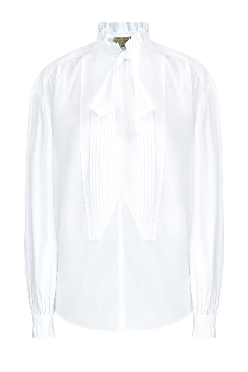 женская блузка burberry, белая