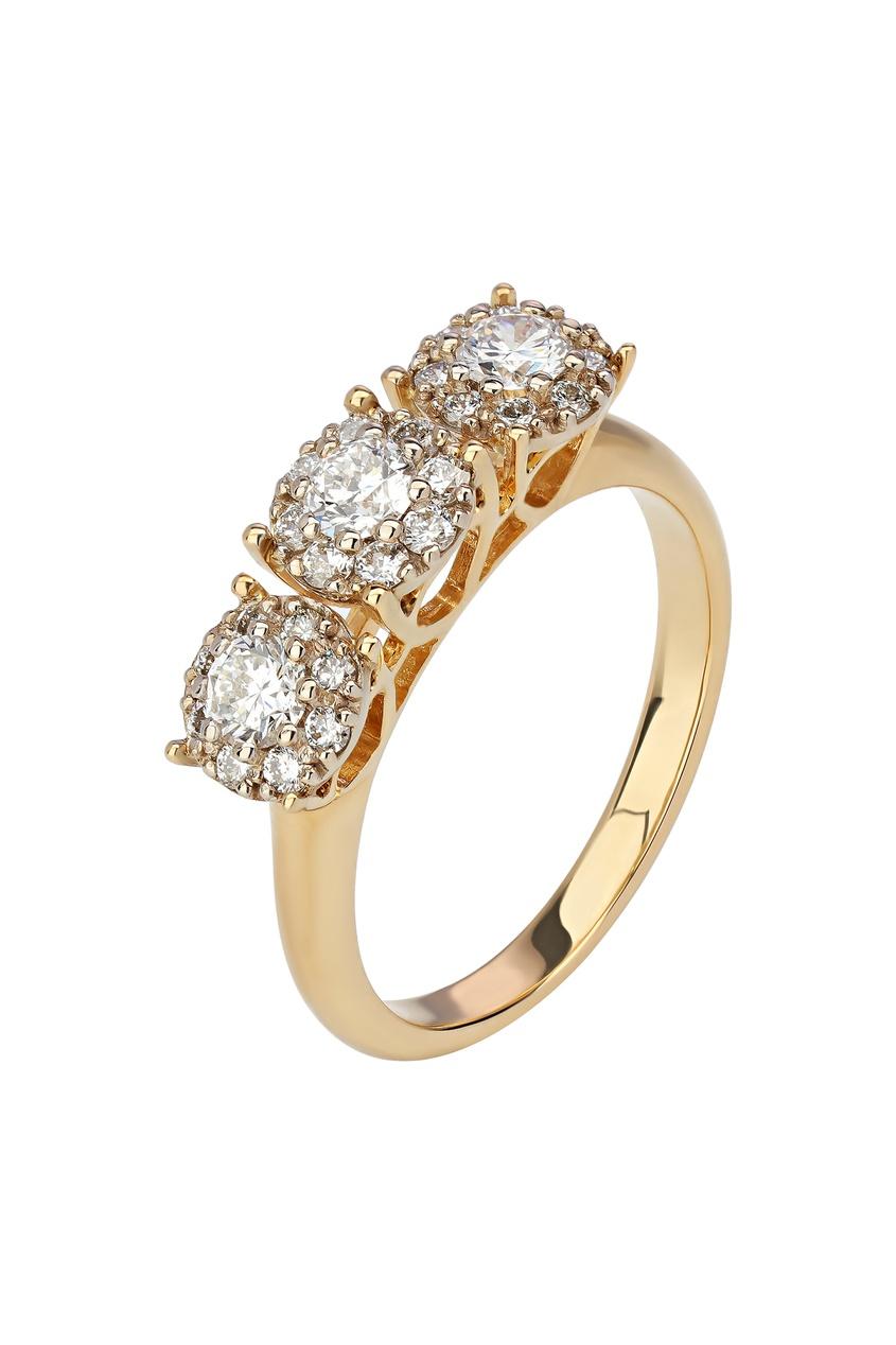 Фото - Золотое кольцо с бриллиантами от Кремлевские Мастера золотого цвета